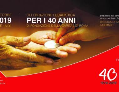 Celebrazione Eucaristica per il 40°anniversario della fondazione della Caritas Diocesana di Roma